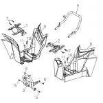 Plastic Footrest, Front Bumper,
