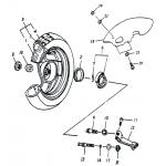 Rear Wheel (13IN SPCC Rim)