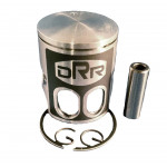 DRR 52mm Kit = 52 mm Teflon coated dual port single ring piston, 2 piston clips and piston pin OEM Printed Piston