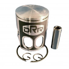 DRR 52mm Kit = 52 mm Teflon coated dual port single ring piston, 2 piston clips and piston pin OEM Printed Piston