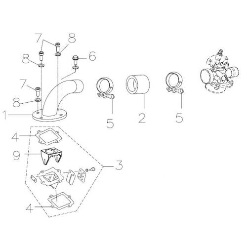 Intake Manifold, Reed Valve