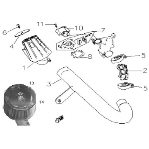 Air Cleaner, Reed Valve